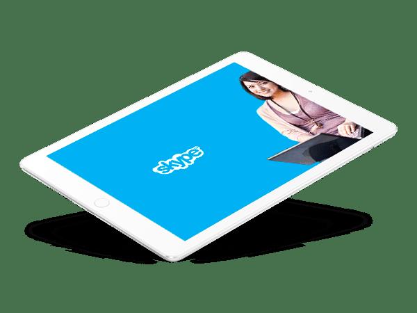 cours anglais Skype par internet