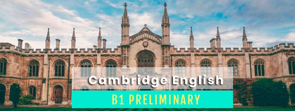 examen PET de Cambridge B1