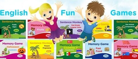 online English games for children