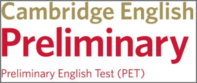 Cambridge PET exam logo