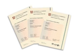 Cambridge PET certificates