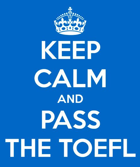 English certificate lessons TOEFL keep calm