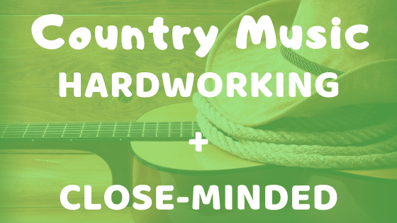 Country Music and related adjectives of personality