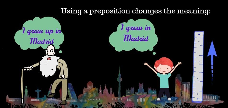 Using a preposition with a verb