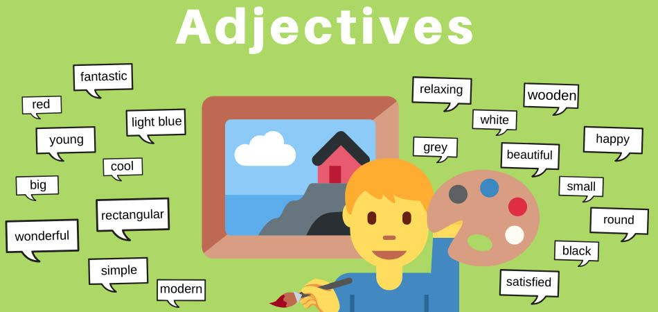 Adjectives in English explained in pictures