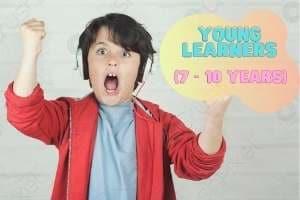 Young kid enjoying English