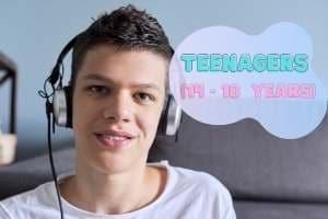 Teenage learner on Skype
