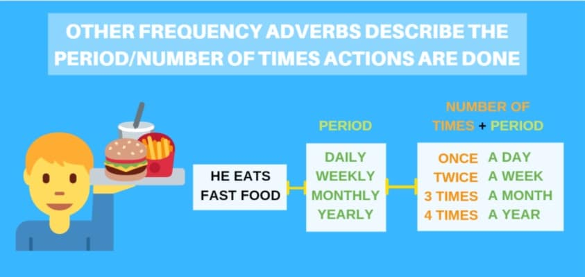 Adverbs of frequency and time